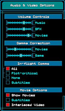 Audio & Video Options.