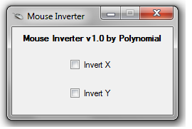 Polynomial's Mouse Inverter options.