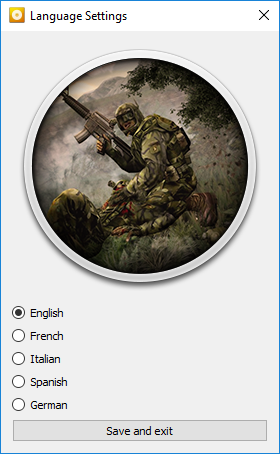 Language settings for the GOG.com version.