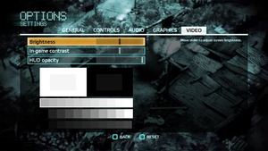 In-game video settings (for multiplayer).