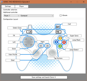 Launcher controller mapping menu.