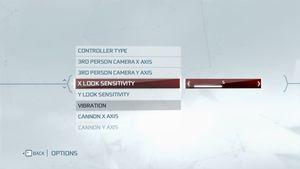 Single player input settings.