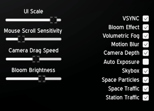In-game graphics options.