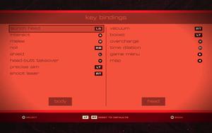 Gamepad settings.