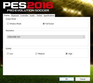 Pro Evolution Soccer 2016 - PCGamingWiki PCGW - bugs, fixes