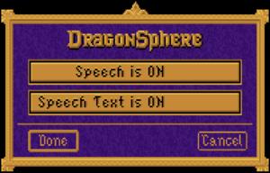 In-game CD-ROM settings.