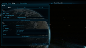 In-game general video/audio settings.