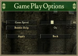 In-game general settings (Stronghold HD).