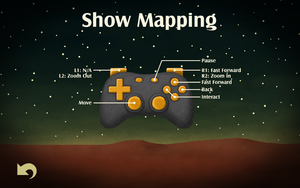 In-game gamepad layout diagram.