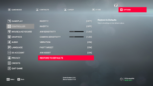 General controller settings.