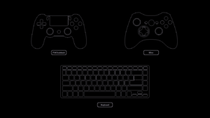 Input method choice given during initial launch, can only be selected with mouse.