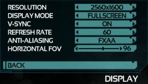 Video Display Settings.