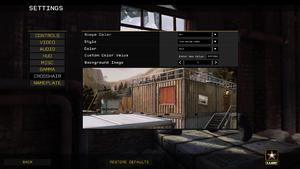 In-game crosshair settings.