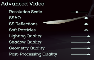 """Advanced"" Video Settings."