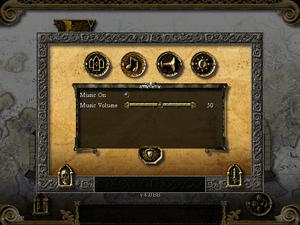 In-game music settings.