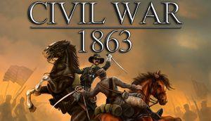 Civil War: 1863 cover
