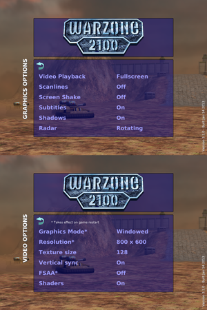 Graphics and video settings