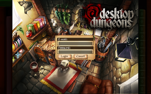 Cloud syncing interface, Desktop Dungeons account required.