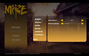 In-game gamepad settings