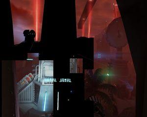 Video artifacting occurring in game.