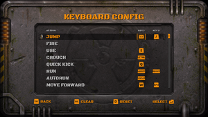 Keyboard bindings