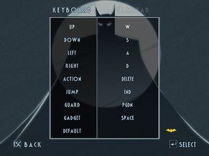 Keyboard remapping menu.