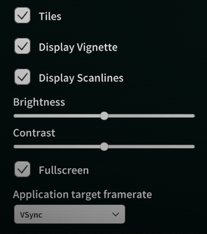 Display options (from General Settings).