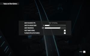 In-game replay settings.