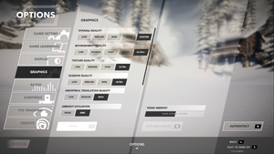 In-game video settings (part 1).