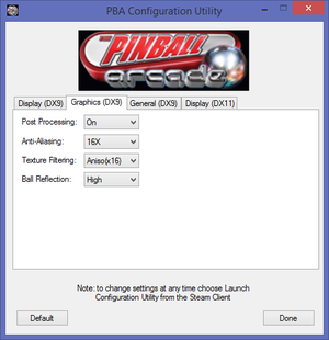 The Pinball Arcade - PCGamingWiki PCGW - bugs, fixes