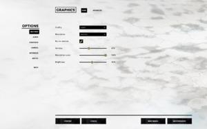 Graphics settings - main.