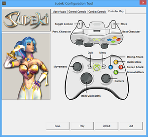 Gamepad layout for the game.