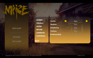 In-game visuals settings