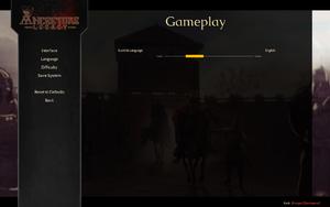 In-game language settings.
