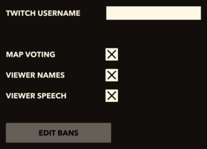 In-game streaming settings.