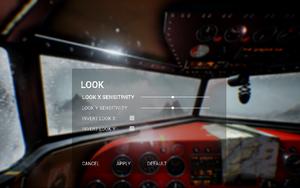 In-game look settings