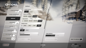 In-game main display settings.