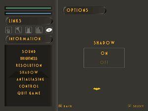 Graphics settings - Shadows.