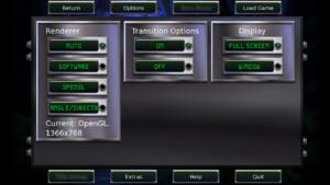 In-game video options menu.