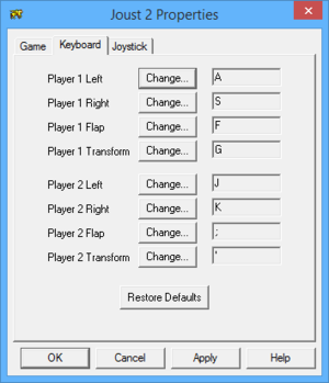 In-game key map settings (for Joust 2).