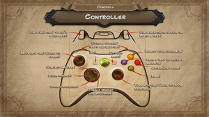 The gamepad layout for Orcs Must Die!