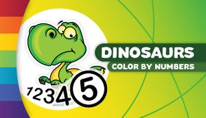 Color by Numbers - Dinosaurs cover