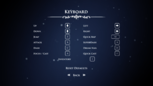 In-game keyboard settings