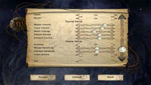 In-game options menu (2/2).