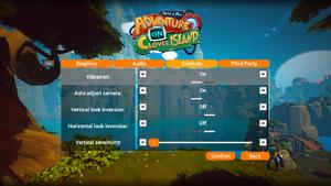 In-game control settings 1