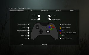 In-game controller layout settings