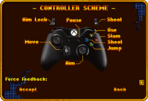 Xbox One Controller bindings.