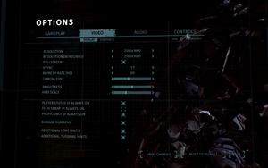 In-game display settings
