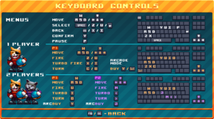 Keyboard controls.