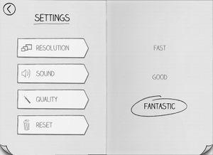 Graphic options.